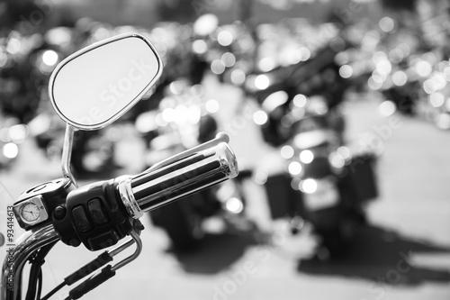 Fotografía Motorcycle parking lot