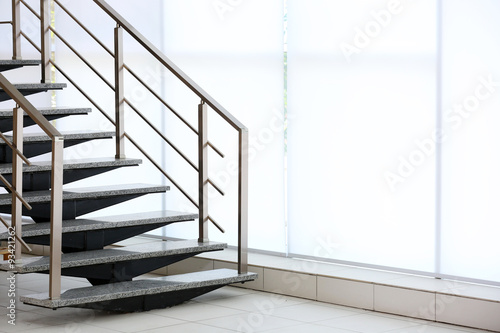 Stairs on big window background