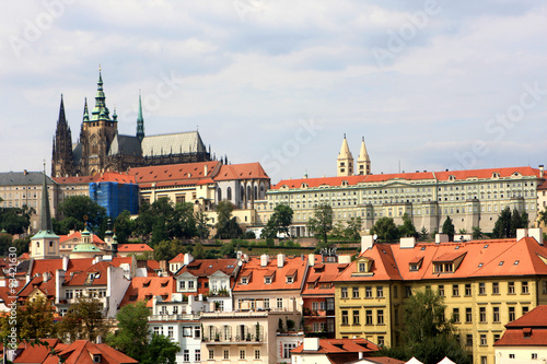 Aluminium Prints Prague View from Charles Bridge, Prague, Czech Republic