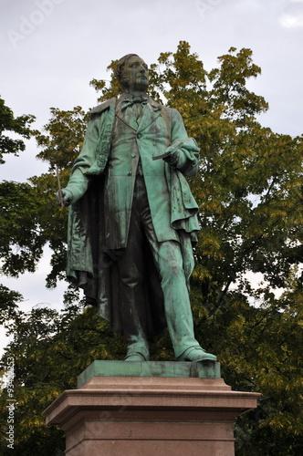 Henrik Wergeland Dichter Norwegen Oslo Statue Poster
