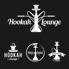 Set Of Hookah Labels, Badges A...