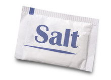 Small Salt Packet Isolated On White