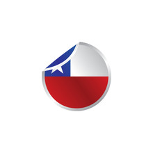 Glossy Theme Chile National Flag