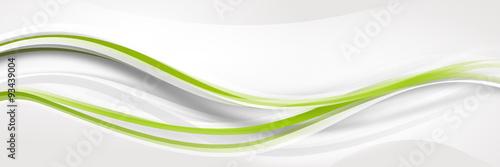 Fototapeta welle wellen grün Band Streifen Business  obraz