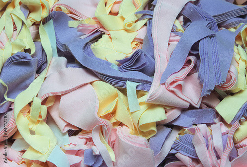 Fotografie, Obraz  Textile waste. It is fabric wastage at a clothing factory.