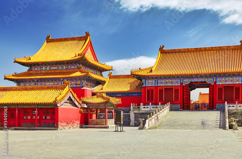 Foto op Aluminium Beijing Palaces, pagodas inside the territory of the Forbidden City Muse