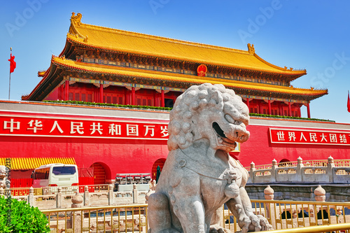 Foto auf AluDibond Beijing Gate of Heavenly Peace- entrance to the Palace Museum in Beijin