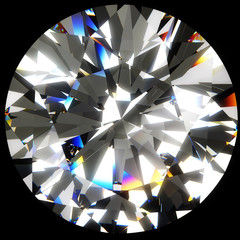 Obraz na PlexiRound Diamond isolated with clipping path