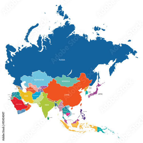 Photo Asia Map