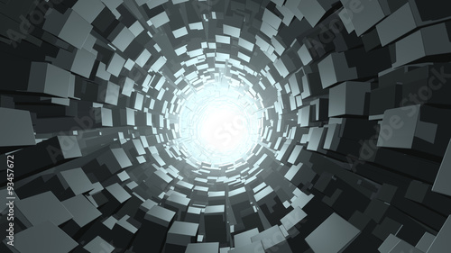 Abstract cube wormhole