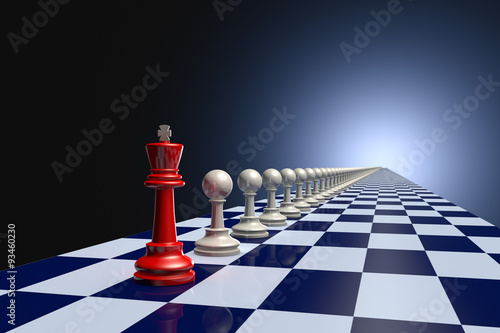 Stampa su Tela Avant-garde (chess army)