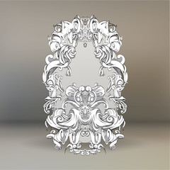 drawing hand vintage frame baroque elements for advertising in vintage style