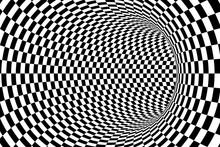 Black And White Checkered Tunn...