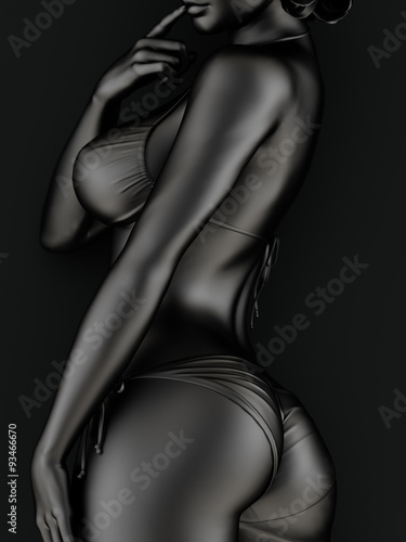 Fototapeta Woman wearing a bikini obraz na płótnie