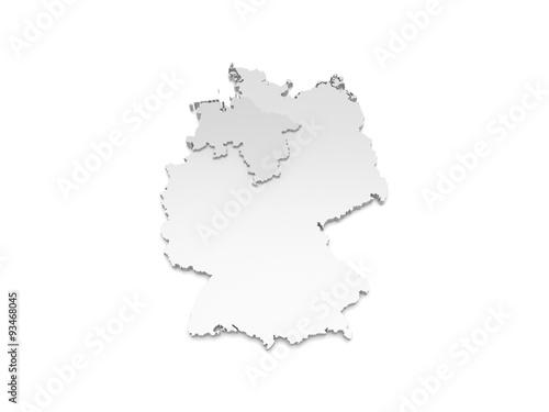 3d Karte Deutschland Niedersachsen Buy This Stock Illustration