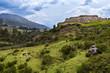 View of the Pakapukara site near Cusco, Peru