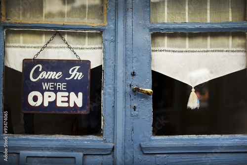 Fotografie, Obraz  Open sign