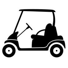 Icono Plano Golf Cart Lateral