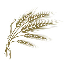 Spikelets Of Wheat Tied With A...