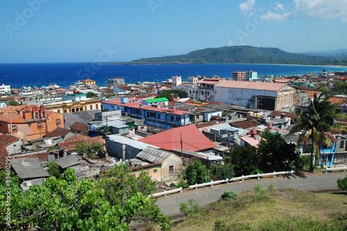 Blick auf Baracoa, Kuba Canvas Print