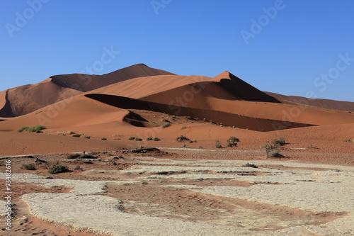 Poster de jardin Desert de sable Die Wüste Namib mit dem Deadvlei und dem Sossusvlei in Namibia