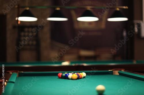 Fotografie, Obraz  billiards, billiard balls on the table