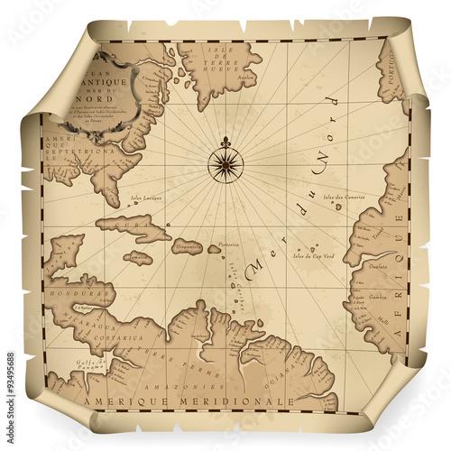 Zdjęcie XXL Stara mapa