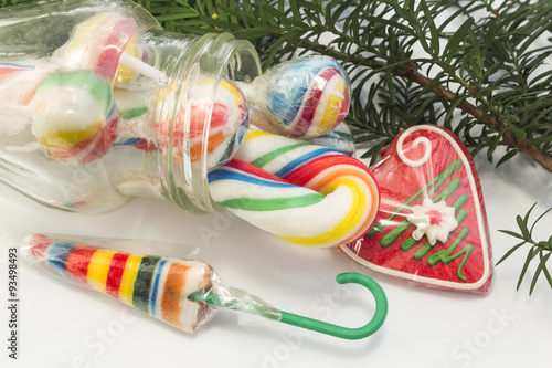 vintage lollipops as christmas decorations
