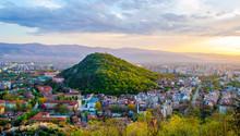 Sunset Over Bulgarian City Plo...