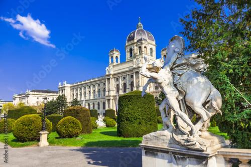 Staande foto Wenen elegant Vienna with beautiful parks. Austria