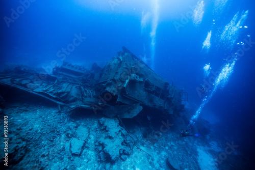 Photo Stands Shipwreck Underwater world