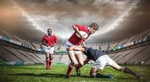Composite Image Of Rugby Stadium