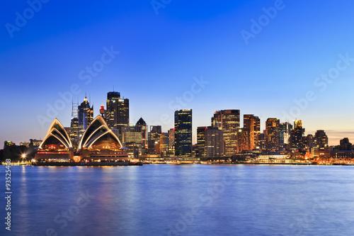 fototapeta na lodówkę Sydney CBD Kiribilli 40 mm