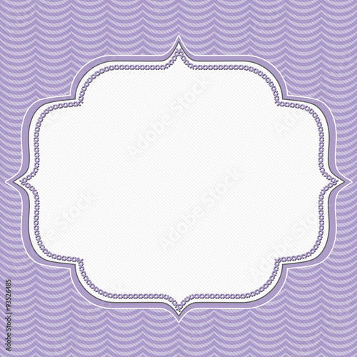 Fotografie, Obraz  Purple Wavy Stripes Frame Background