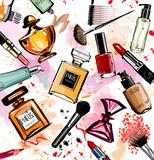 Akwarela kolekcja kosmetyków i perfum - 93526651