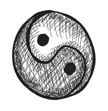 Doodle Yin Yang Symbol