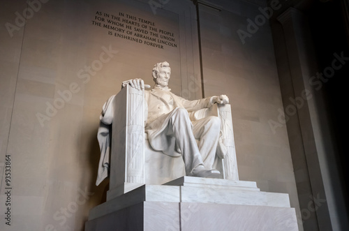 Photographie  The statue of Abraham Lincoln, Lincoln Memorial, Washington DC