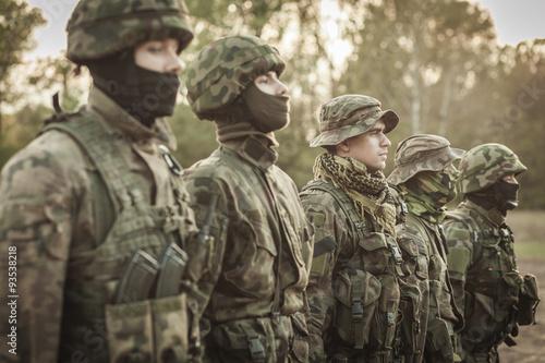 Combat basic training Fototapeta
