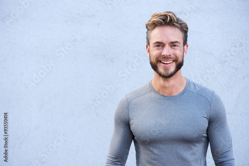 Fotografia Close up portrait sports trainer smiling