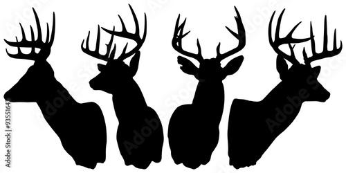 Carta da parati Deer Silhouettes