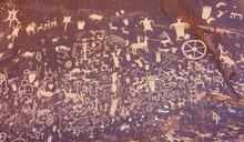 Petroglyphs On Newspaper Rock,...