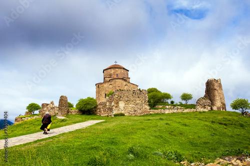Fotografie, Obraz  Jvari Monastery in Mtskheta, eastern Georgia.