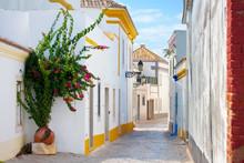 Street In Faro, Algarve, Portu...