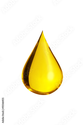 Fotografija  oil drop isolate on white background