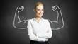 canvas print picture - junge erfolgreiche Geschäftsfrau