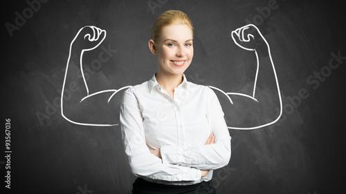 junge erfolgreiche Geschäftsfrau Canvas Print
