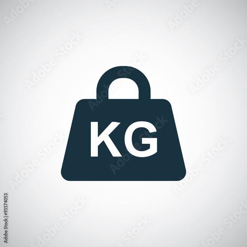 Fotografia  weight kg icon