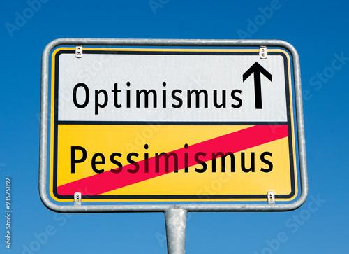 Ortstafel Optimismus/Pessimismus Canvas Print