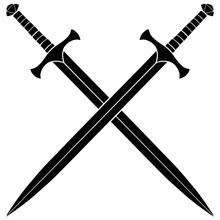 Crossed Swords Silhouette