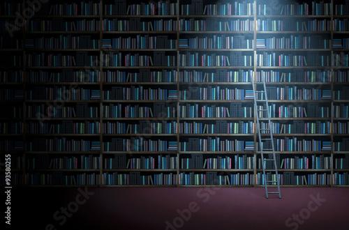 Fototapeta Library bookshelf obraz na płótnie